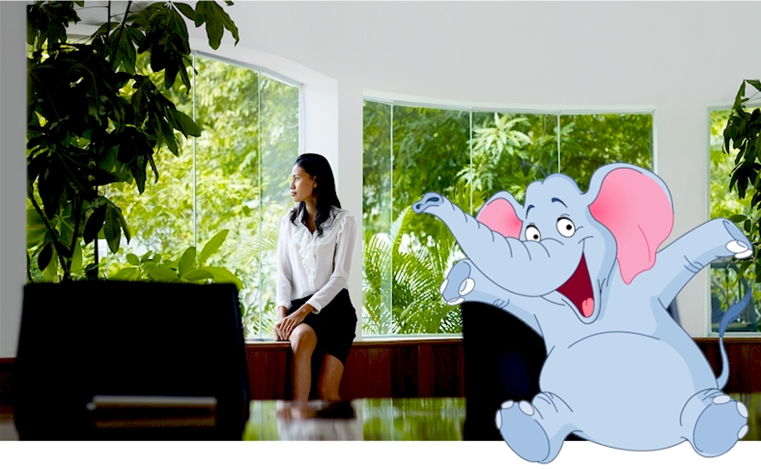 Biophilic design for more natural offices – is there an elephant in the room?